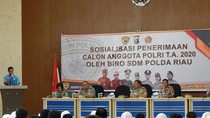 Penerimaan Anggota Polri Tak Dipungut Biaya, Polda Riau Gelar Sosialisasi di Kampar