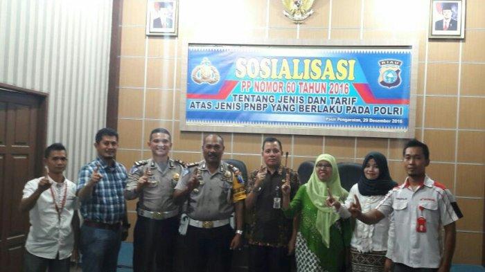 Polres Rohul Sosialisasi Kenaikan Tarif PNBP