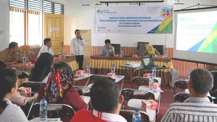 BPJS Ketenagakerjaan Kuansing Riau Sosialisasi Soal Sanksi bagi Peserta yang Tak Tertib Administrasi