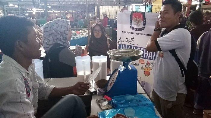 GASS Sosialisasi Pilwako ke Pasar Pagi Arengka