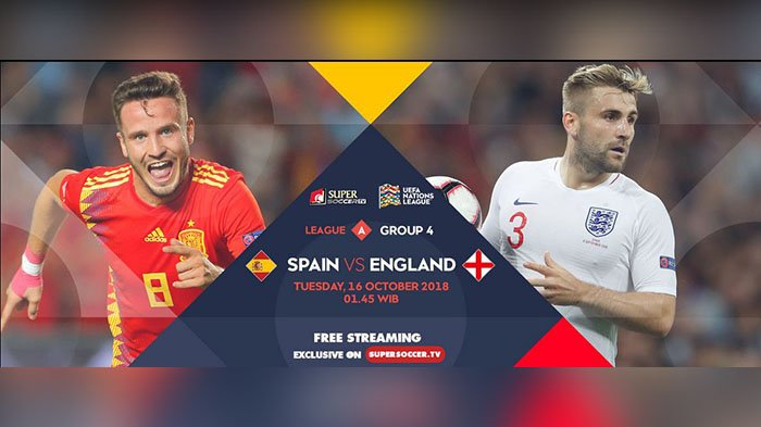 Link Live Streaming Supersoccer.tv Spanyol Vs Inggris UEFA Nations League, Kick Off 01.45 WIB