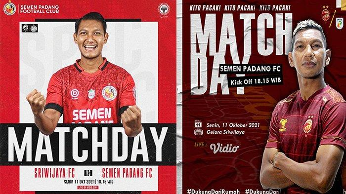 Siaran Langsung Liga 2 Grup Sriwijaya FC vs Semen Padang FC, Kabau Sirah Targetkan Poin Penuh