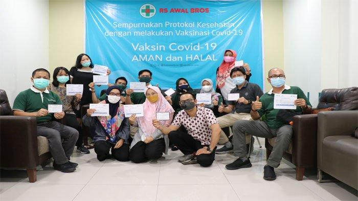 Jelang PTM, Seluruh Staf Tanoto Foundation Riau di Vaksin Covid 19