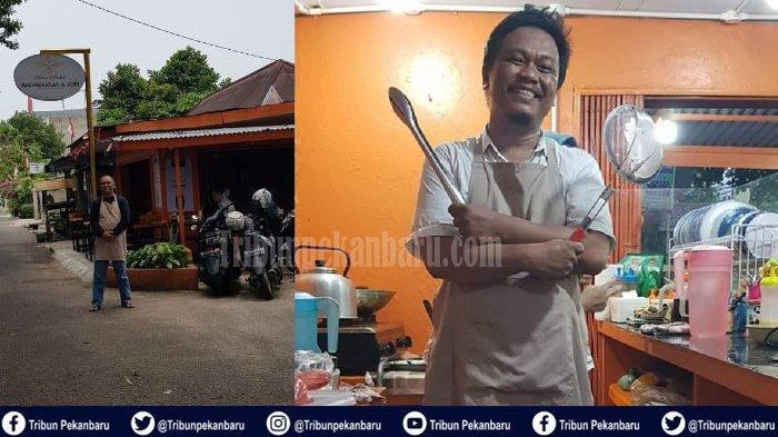 STORY - Ketua PSI Riau Batal ke Senayan pada Pileg 2019, Kini Pilih Jual Bakwan di Warung Kopi
