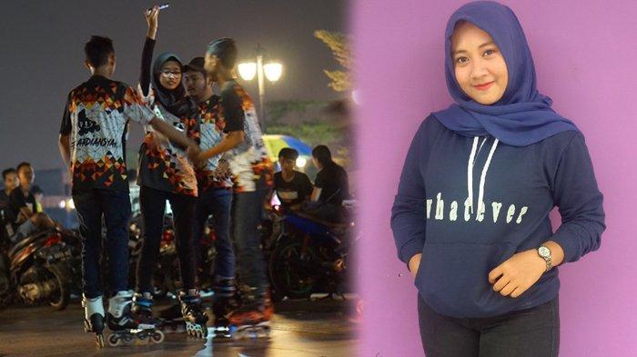 STORY - KISAH Cewek Cantik Asal Riau Tak Takut Cedera, Coba Sensasi Bersepatu Roda di Kelok Sembilan