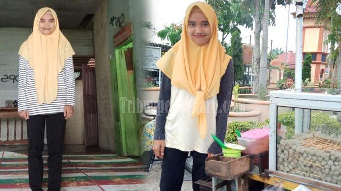 STORY - KISAH Nyata Siswi SMA Cantik di Riau Jualan Bakso Bakar untuk Biaya Sekolah dan Meraih Cita