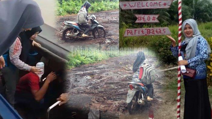 STORY - KISAH Perjuangan Bidan Desa Cantik di Pelosok Riau, Hadang Ombak dan Tempuh Jalan Berlumpur