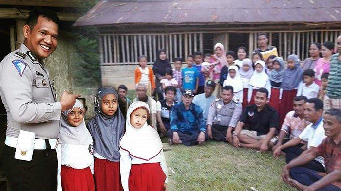 STORY - Salut, Polisi Ini Rela Kuras Tabungan Demi Bangun Sekolah Marjinal di Kampar Riau