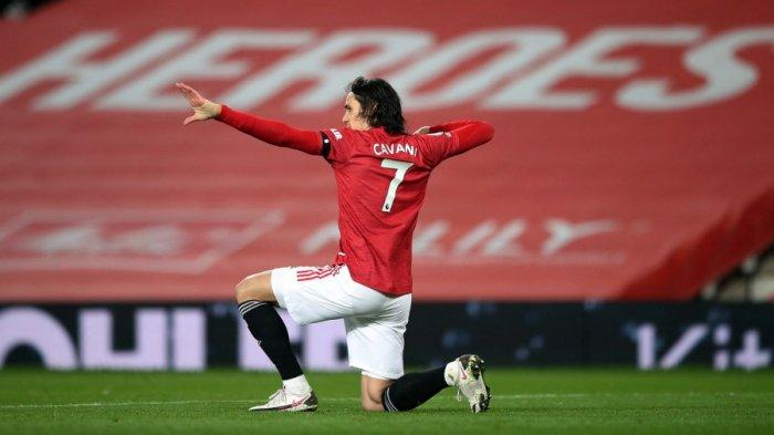 Striker Manchester United asal Uruguay Edinson Cavani.