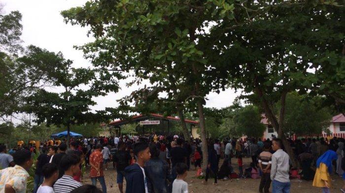 Pantai Solop Tempat Wisata Favorit Lebaran 2019 di Inhil Riau, 8 Ribu Pengunjung dalam 3 Hari