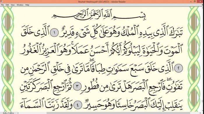 Keistimewaan & Keutamaan Membaca Surat Al Mulk, Baca Surat Al Mulk Lengkap 30 Ayat