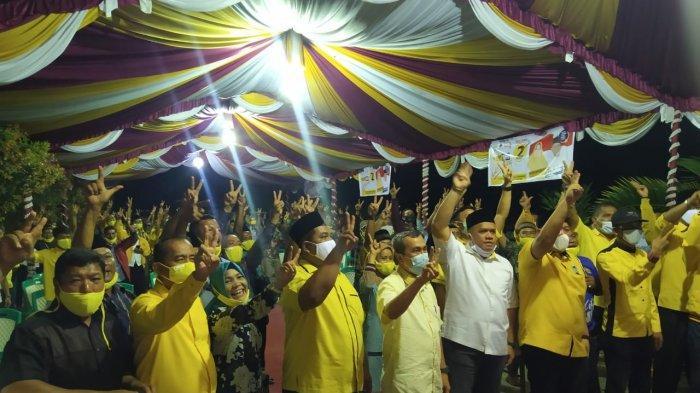 Turun ke Peranap, Ketua DPD Golkar Riau Syamsuar Ajak Warga Menangkan Paslon Rajut di Inhu