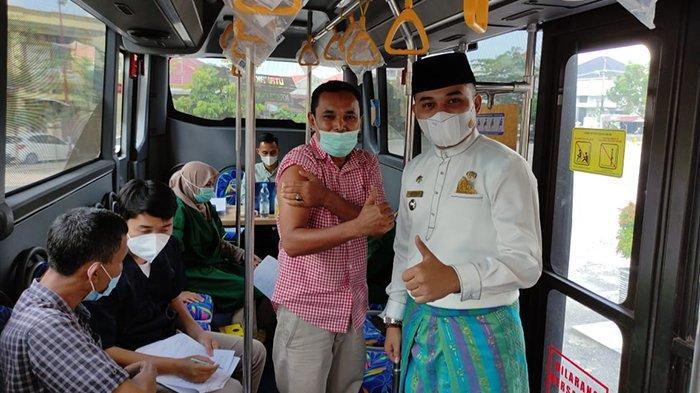 Anda Tinggal di Bukit Raya dan Ingin Vaksin? Catat, Jumat Bus Vaksinasi Parkir di Masjid Nurussalam