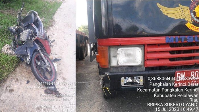 2 Siswa SMA Tewas di Jalintim,Motor Bersenggolan Kemudian Ditabrak Mobil Dalmas Satpol PP Pelalawan