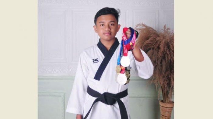 Taekwondo Junior Khaisyar Siregar Raih Emas di Kejuaraan UNHAN RI Championship 2021
