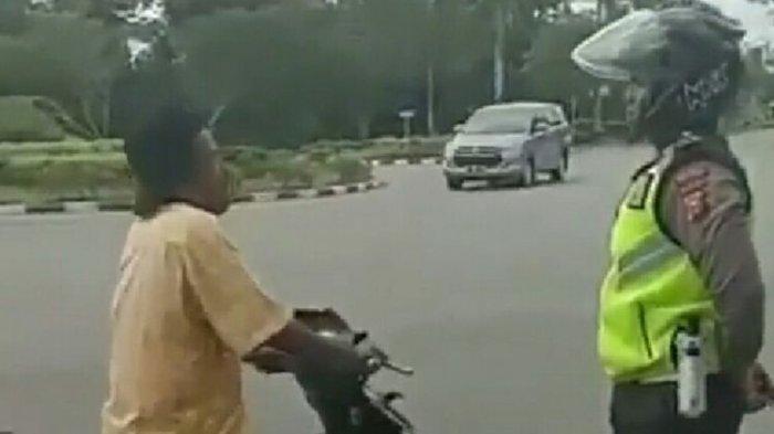 Takut Ditilang Polisi, Pengendara Motor Ini Kabur Tinggalkan Istrinya, Diduga Terjadi di Siak