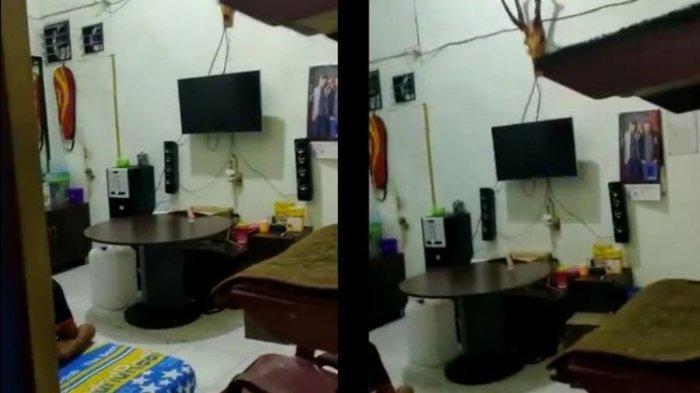 Tangkapan layar video kamar yang disebut di Lapas Kelas II Lhokseumawe, Senin (21/2/2021)