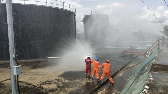 Tanki Minyak di PPP Ukui Riau Terbakar, Pertamina EP Lirik Gelar Fire Drill Jelang Idul Fitri 1440 H