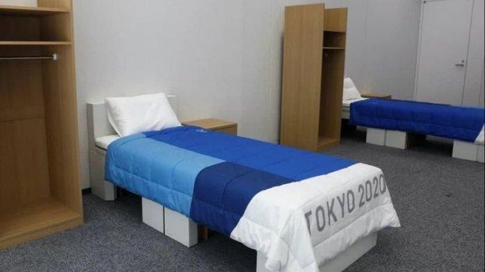 VIRAL Kasur Atler Olimpiade Tokyo dari Kardus: Supaya Para Atlet Tak 'Mantap-Mantap'