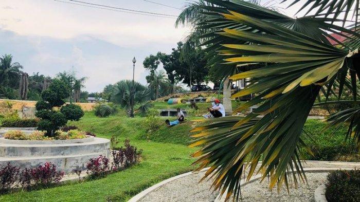 Tempat Wisata di Riau, Taman Sri Mayang Telaga Samsam Kandis, Tongkrongan Keluarga Menikmati Senja