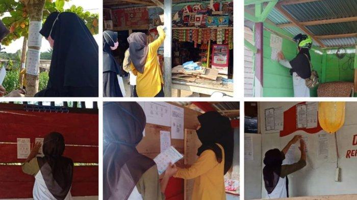 Terapkan New Normal, Mahasiswa Kukerta Relawan Covid-19 UNRI Edukasi Warga Melalui Brosur