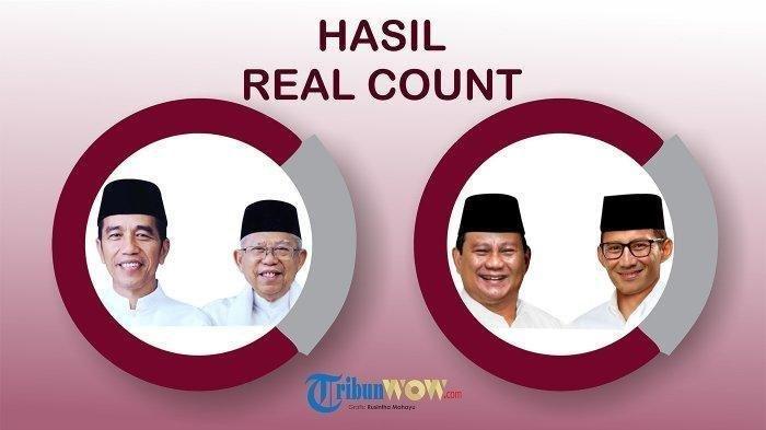 TERBARU Update Hasil Real Count KPU Pilpres Senin 13 Mei 2019 Data Masuk 78.47%, Jokowi Masih Unggul