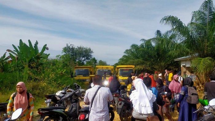 Sudah 2 Pekan Duduki Lahan,Anggota KNES Penerima TORA Desa Senama Nenek Kampar Hadang Pemanen Sawit