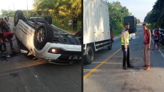 Mobil Terios Oleng dan Tabrak Sepeda Motor di Jalintim Pelalawan, Seorang Wanita Tewas di Tempat