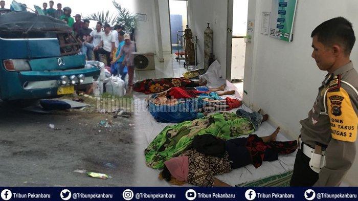 TERUNGKAP Fakta Penyebab Kecelakaan Bus PMTOH di Riau dari Hasil Uji Mekanik Ini DATA LENGKAP Korban
