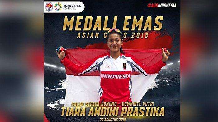 Asian Games 2018 - Medali Emas untuk Indonesia dari Tiara Andini Prastika Cabang Balap Sepeda Gunung