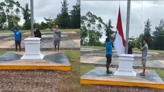 Viral Tiga Remaja di Kuansing Turunkan Bendera Saat HUT RI ke-76, Ini Klarifikasi Forkompinda