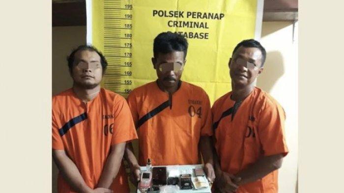 Detik-detik Polisi Amankan 3 Tiga Pria dari Pekanbaru Hendak Jualan Narkoba di Wilayah Inhu