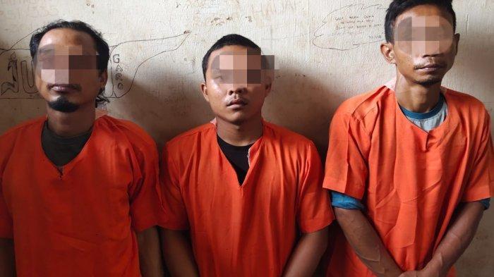 Tiga Pelaku Curanmor di Parkiran PT RBE Diamankan Polsek Tapung Hilir