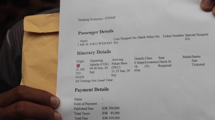 Inilah Tiket Untuk Presiden Jokowi Yang Dibelikan Warga Pekanbaru Halaman 1 Tribun Pekanbaru
