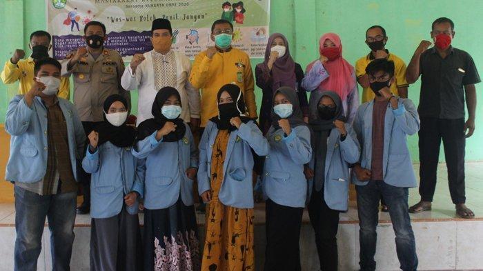 Tim Kukerta Balek Kampung UNRI Taja Sosialisasi Pencegahan Penyebaran Covid-19 di Kelurahan Sekijang