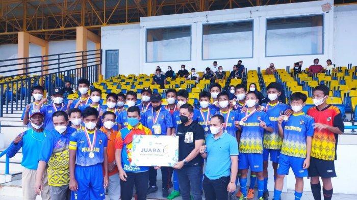 Pekanbaru Jawara Kejurda Sepakbola U-14 2021, Tak Pernah Laga Selama Laga