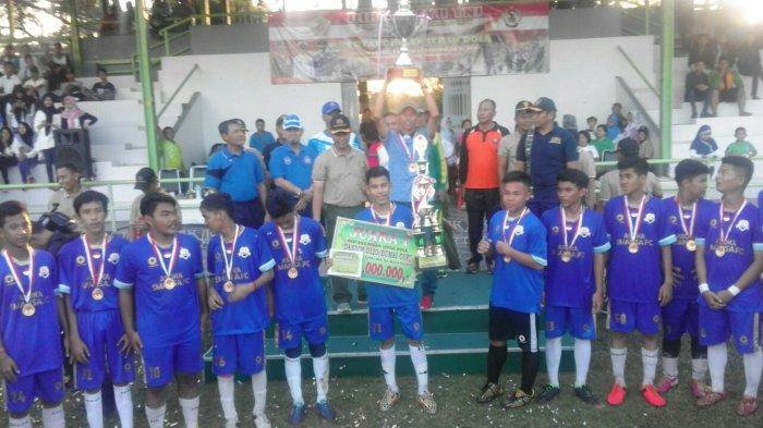 Menang Tipis, Tim Sepakbola SMAN 1 Dumai Jadi Juara Dandim Cup 2017