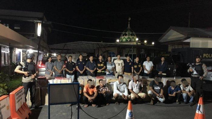 BREAKING NEWS: Tim Buser Polres Inhu Riau Amankan Ribuan Rokok Ilegal dari Lima Mobil Pribadi