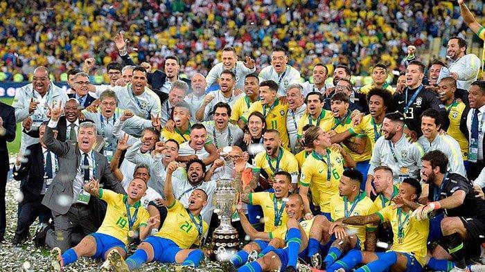 Hasil Copa America, Gelar Ke-9 Brasil Diwarnai Penalti dan Kartu Merah