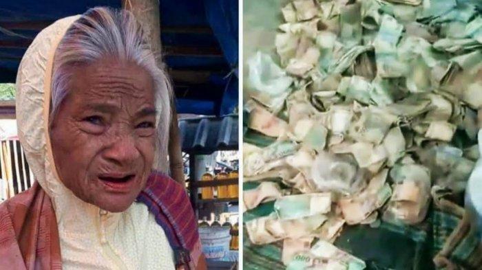 Tinggal Sendiri di Gubuk, Ketika Meninggal Warga Temukan Uang Berjumlah Fantastis Milik Nenek Ini