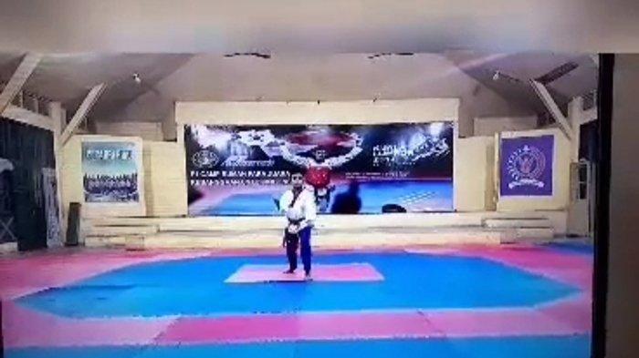 Atlet Junior Riau Tisan Siregar Raih Perak Kejurnas Virtual Taekwondo 2021 di Papua