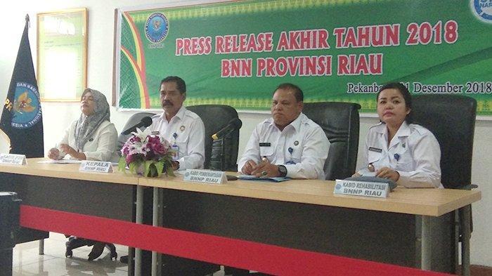 Total 472 Orang Mandapatkan Rehabilitasi Penyalahgunaan Narkotika dari BNNP Riau Sepanjang 2018