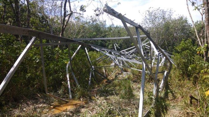 Maling Nekat di Siak Hulu, Lempengan Penyangga SUTET pun Diembat Hingga Tower Tumbang