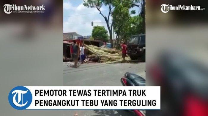 Video: Banting Stir, Truk Pengangkut Tebu Terguling Menimpa Pemotor