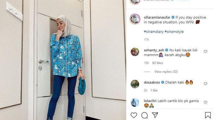 Tubuh Ramping Olla Ramlan, Jeans Ketat Kaki Jenjang Bikin Salah Fokus, Ashanty: ItuKakiKayak Lidi