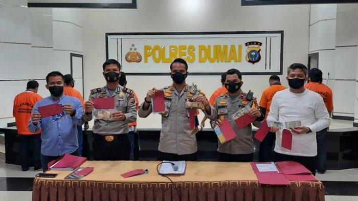Tujuh Terduga Pelaku Pungli Sopir Truk CPO di Dumai Diamankan Polisi, Modus Penyiraman Jalan