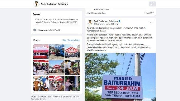 Pengurus Masjid Punya Saldo Ratusan Juta, Pak Gubernur Tak Terima, Dibuatnya Viral di Facebook