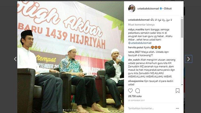 Tablig Akbar UAS dan Ustadz Felix Dipindah Ke Masjid Raudhatus Shalihin