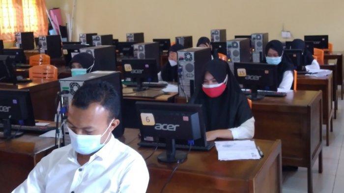Ujian SKD CPNS 2021 di Kuansing, Total 222 Peserta Absen, 9 Positif Rapid Antigen