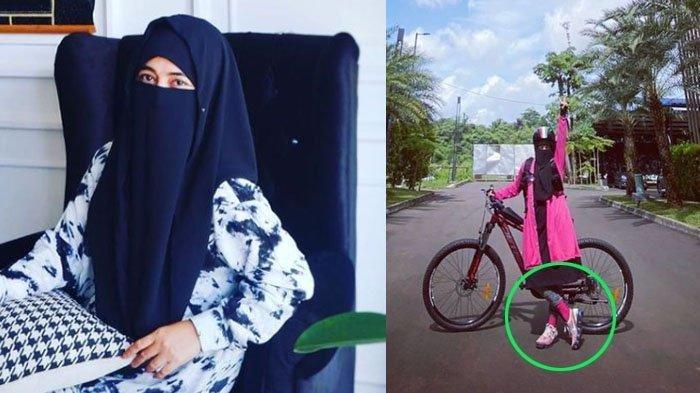 Penampilannya saat bersepeda dikritik netizen, Umi Pipik menjawabnya dengan santai.